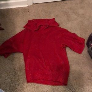 Red sparkly Michael Kors top!